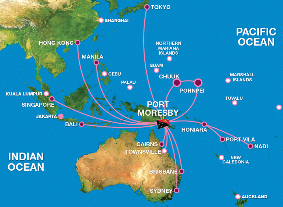 Route Maps - Air Niugini