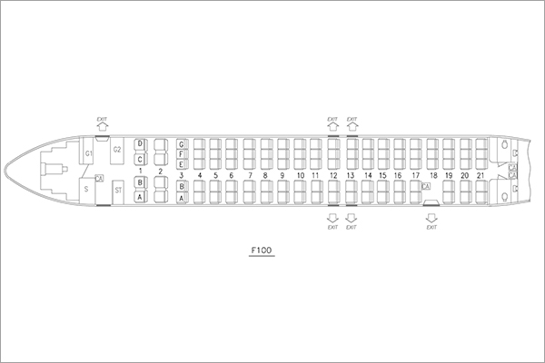 Aircraft Seating Maps Air Niugini