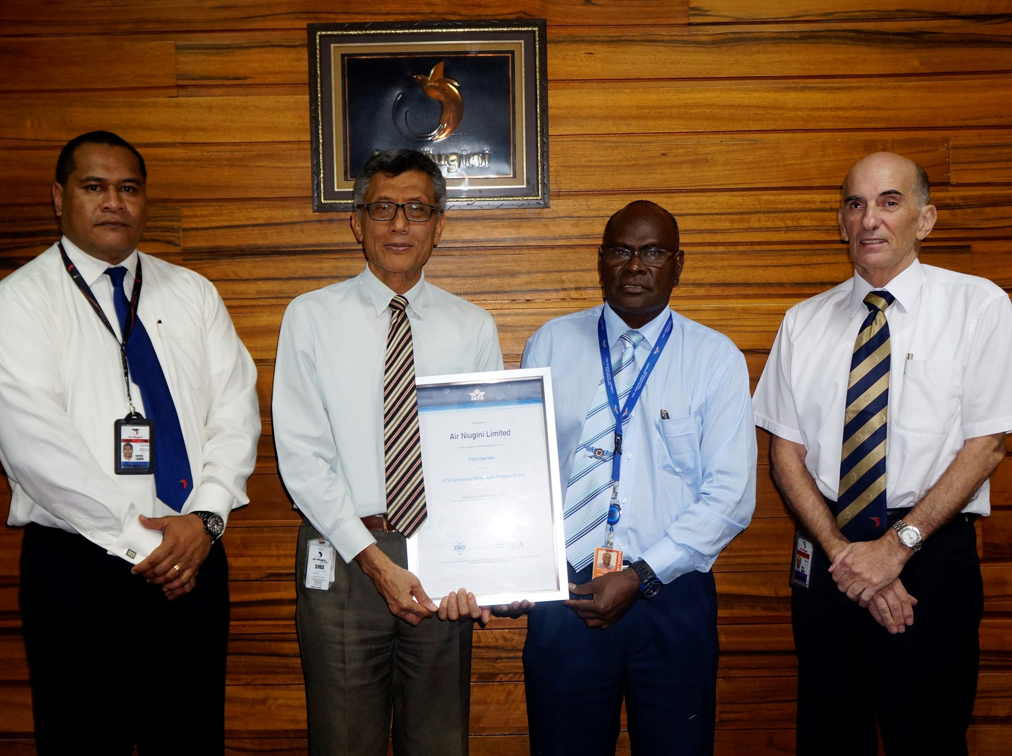 Air Niugini receives IOSA Certificate