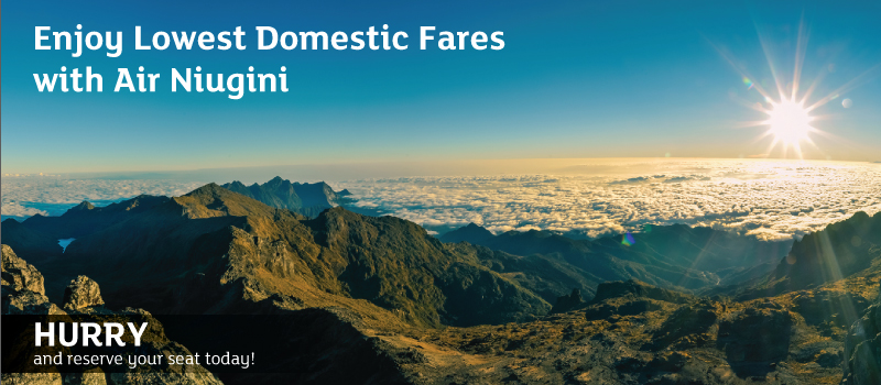 Enjoy Lowest Domestic Fares with Air Niugini