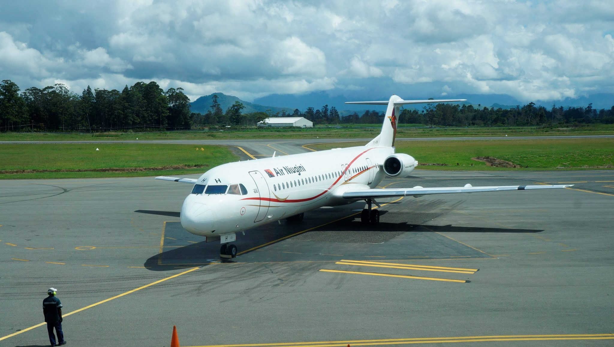 Fokker-100 Aircraft at Kagamuga International Airport in Mt Hagen