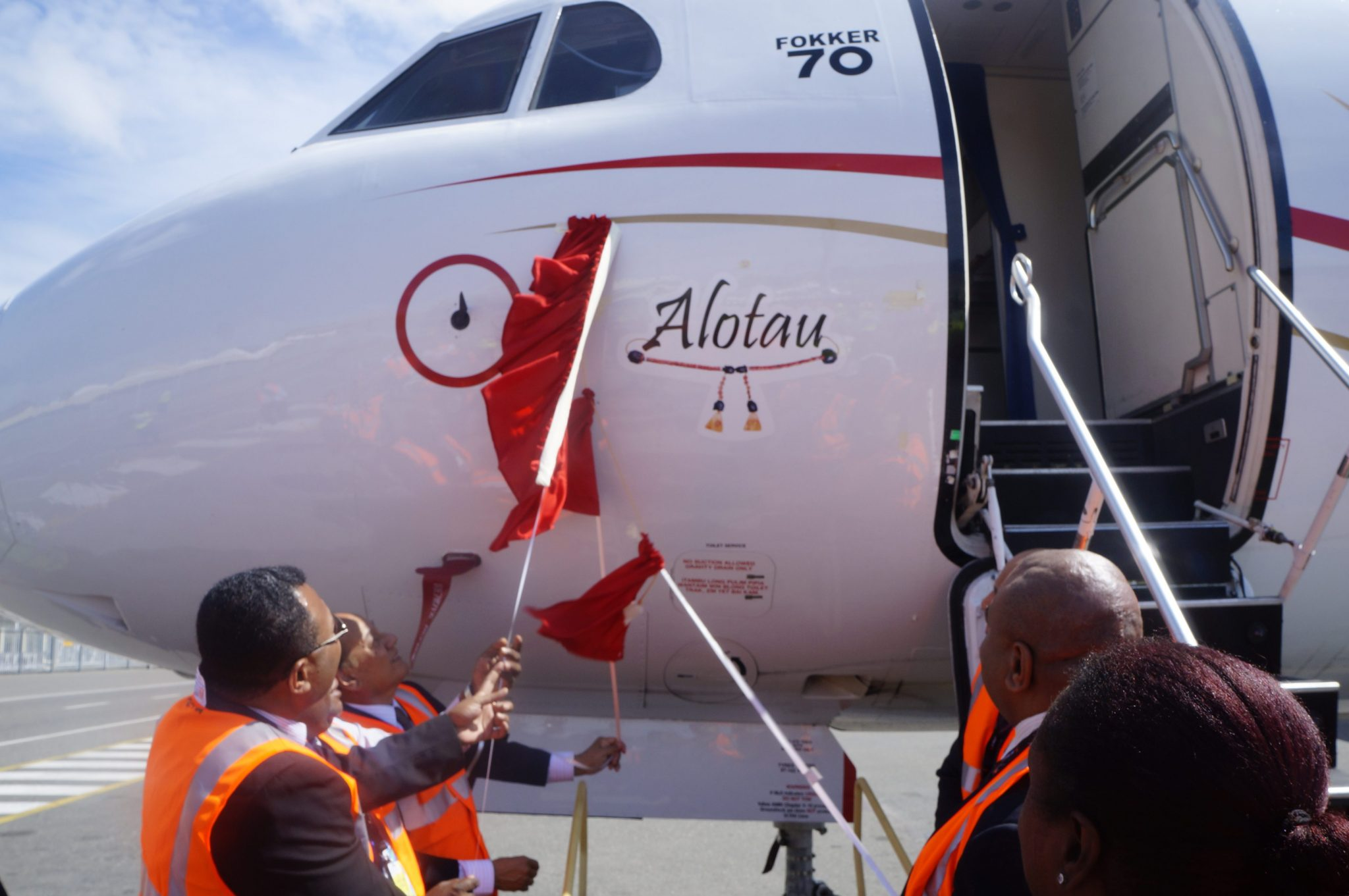 "Naming of the third Fokker 70 aircraft ""Alotau"""