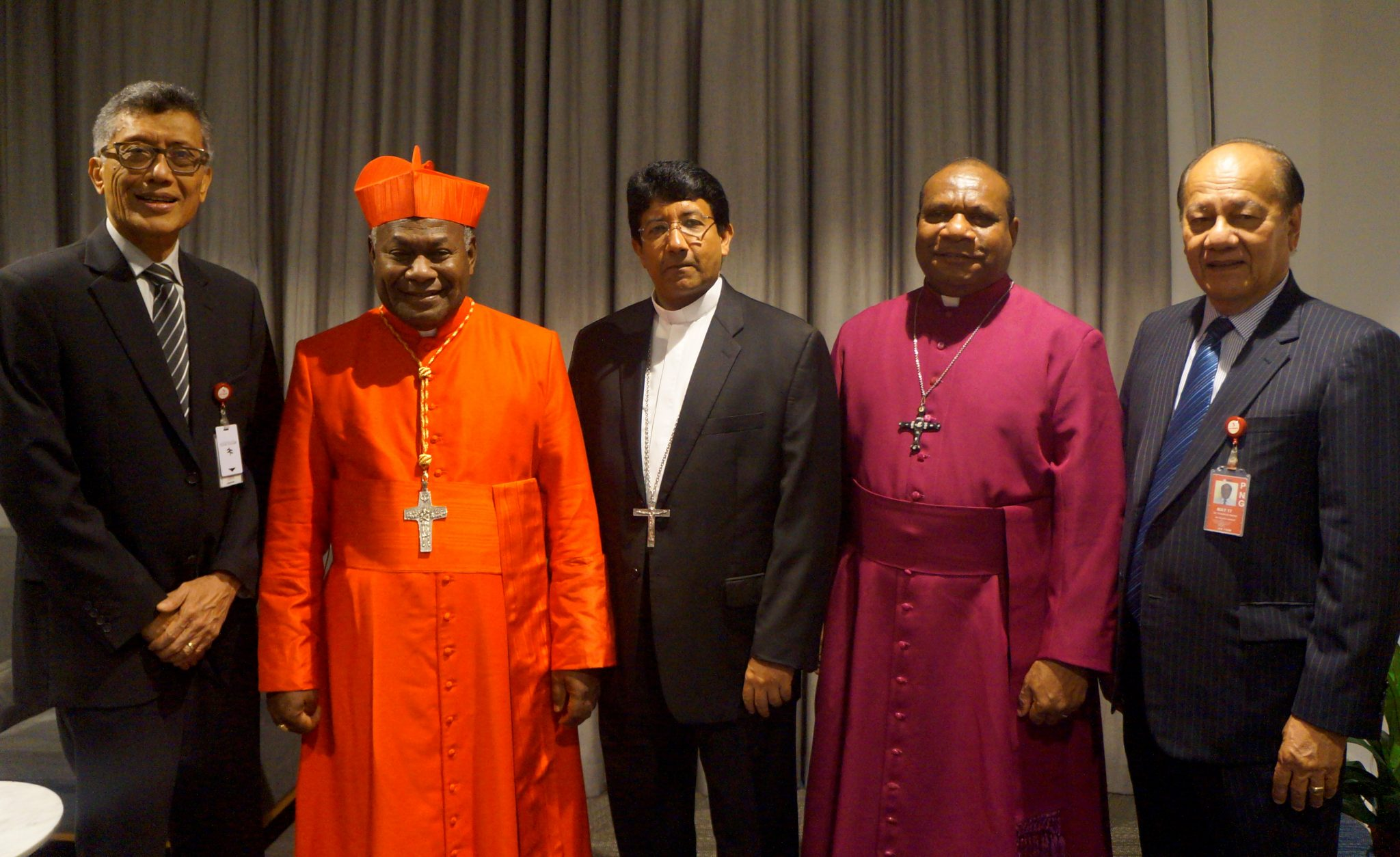 Cardinal's arrival in Port Moresby