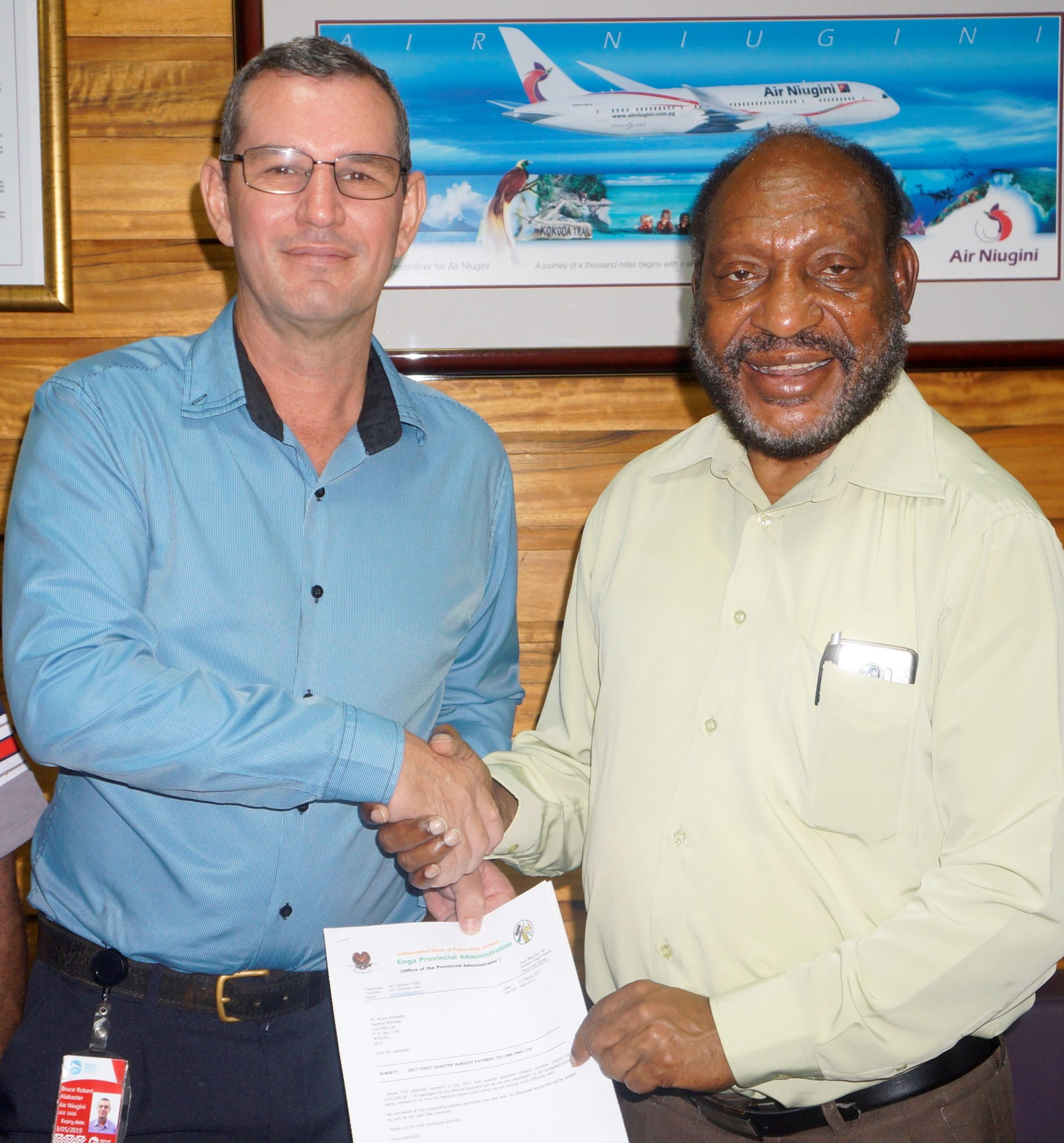 Link PNG receives first quarter airfare subsidy from Enga Provincial Government