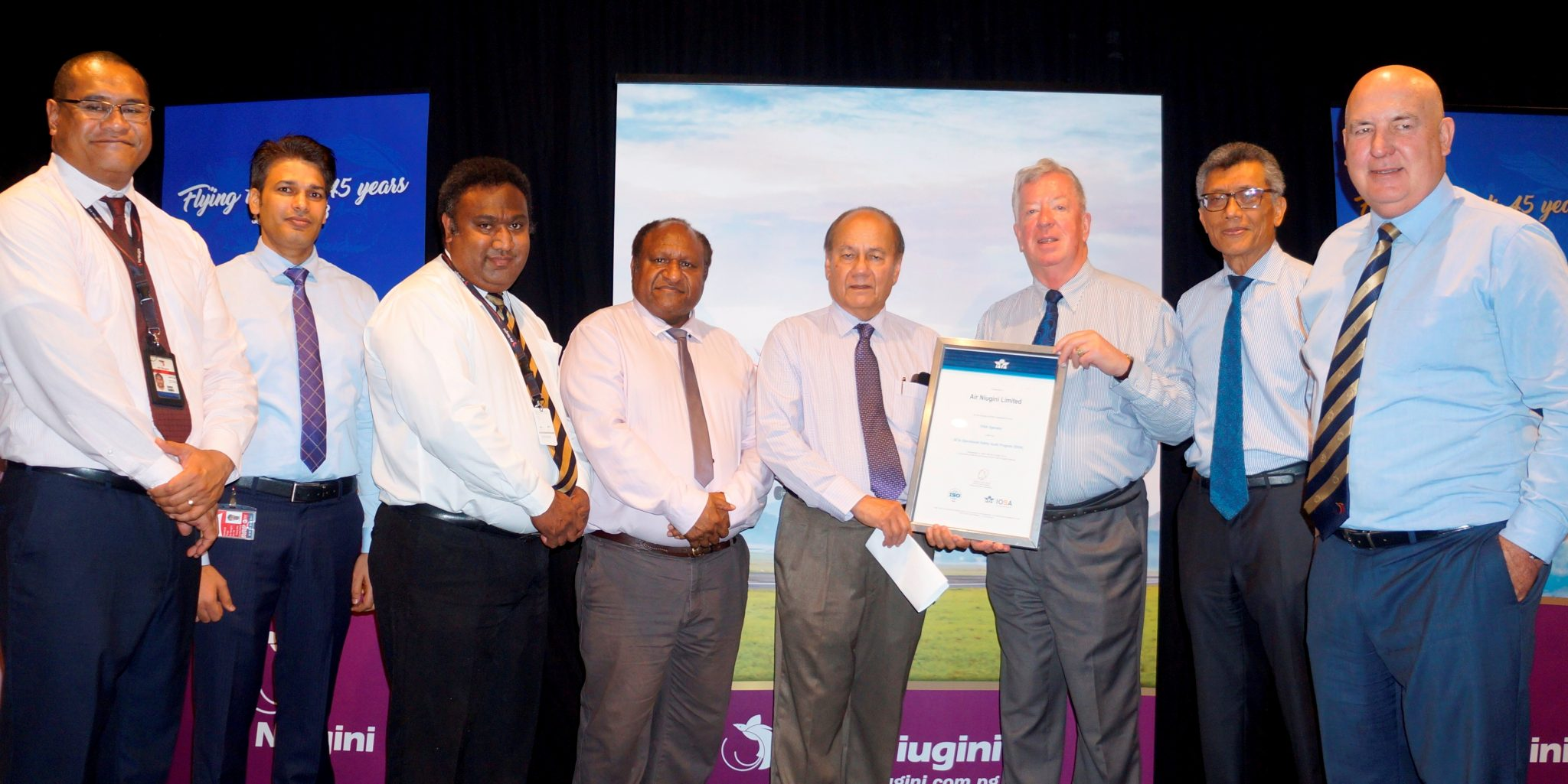 Air Niugini achieves 100 percent compliance with IOSA Audit 2017