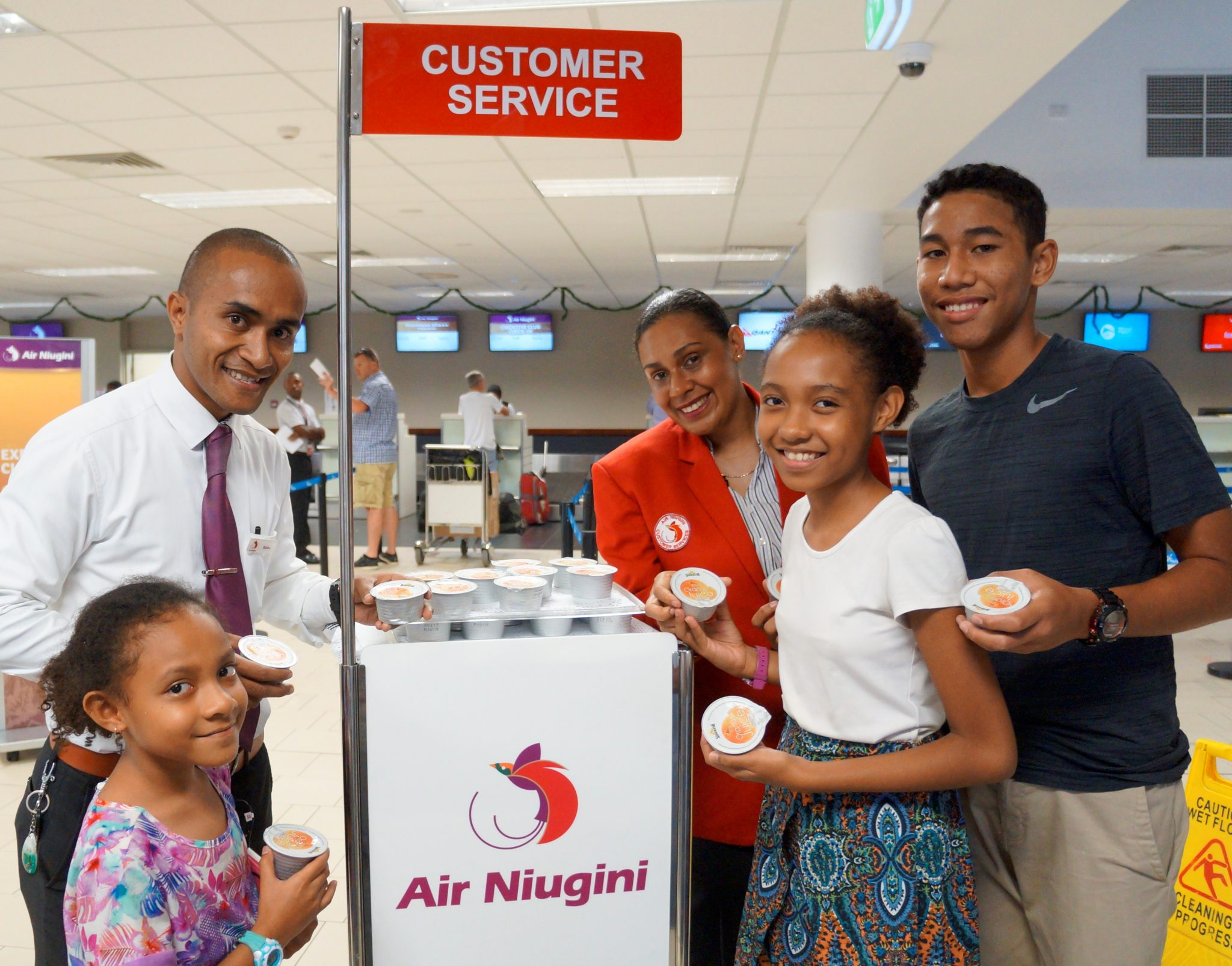 Air Niugini offers free water and juice in the festive period